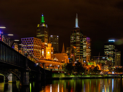 Joint 2nd Place - Flinders Street Station, Melbourne from the banks of the Yarra by John Porter