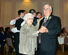 Jewell casts a hairy eyeball at the camera as she dances with son John at her granddaughter's wedding.