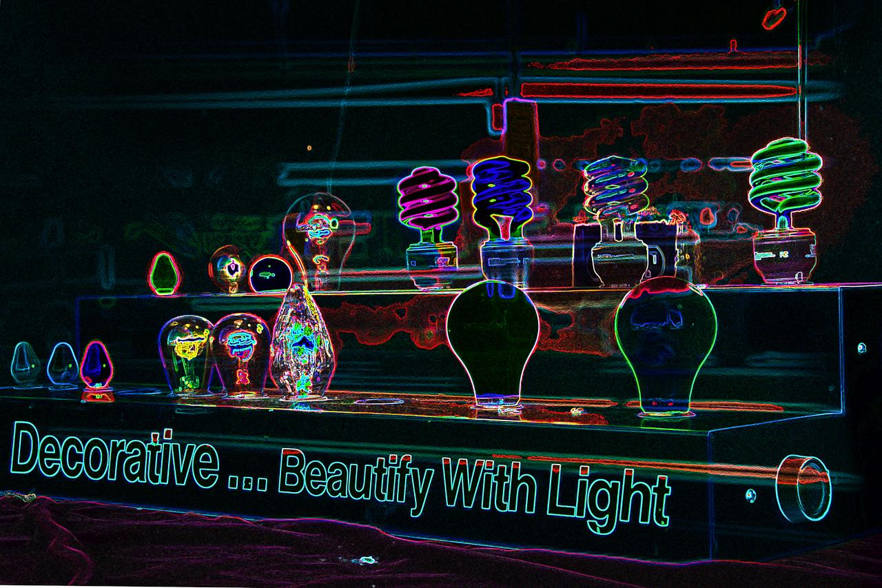 Harvey Abernathey - Window Display at Light Store  - http://www.nightdayphotos.com