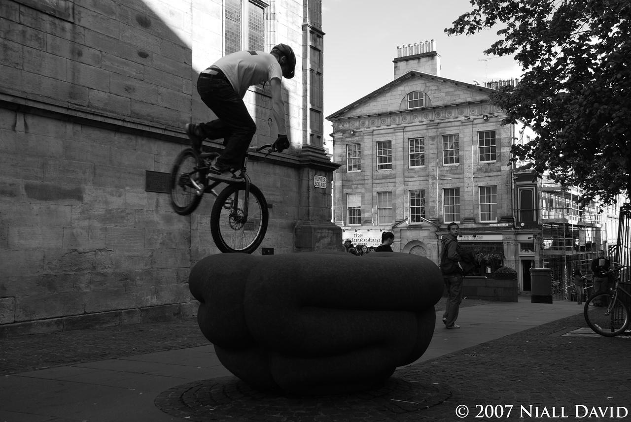 Niall David - Biker in Hunter Square - Edinburgh, Scotland 2007  - http://www.nialldavid.com