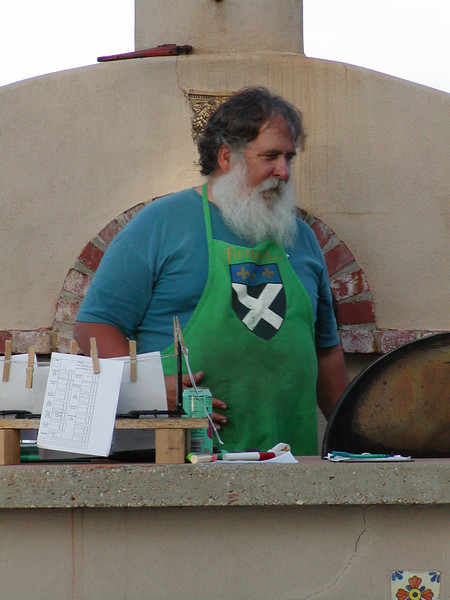 Making wood fired pizza at Fitzpatrick winery