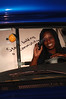 Kashama Horton in vistior center bus and in studio for viewbook 2007