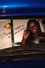 Kashama Horton in vistior center bus and in studio for viewbook 2007