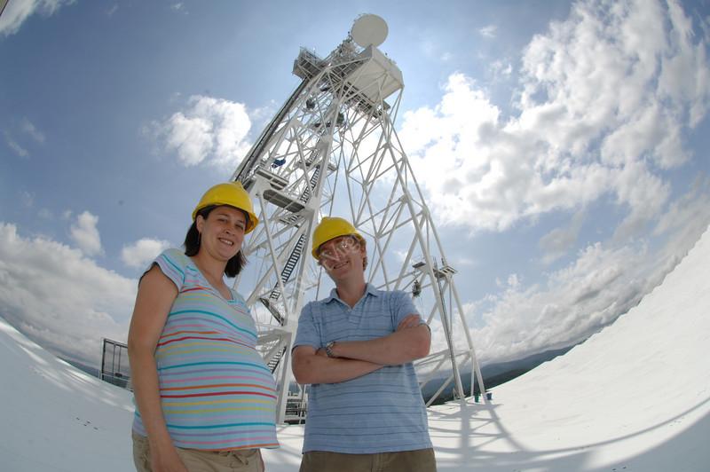 Viewbook 2007  Maura and Duncan Lomair at NRAO,<br /> Green Bank, West Virginia