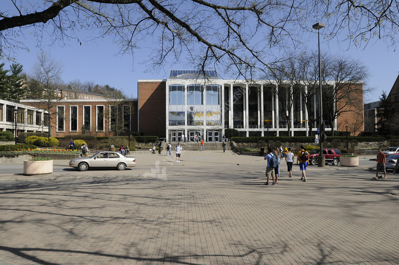 Campus Scenes Mountainlair front and plaza