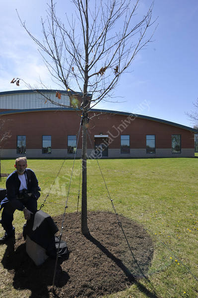 Virginia Tech Memorial Tree dedication