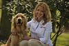 Kyria Henry with service dog for Liquid Matrix