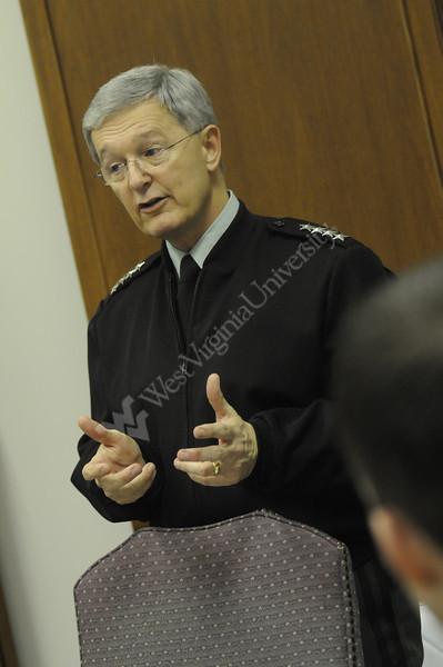 General Bantz Craddock speaking in Class