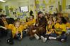 Brady Campell at WVU Nursey School with childern 2008