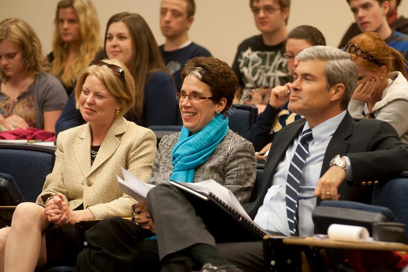 WVU Reed College students take part in Journalism week, April 2011. (WVU Photo/Jake Lambuth)