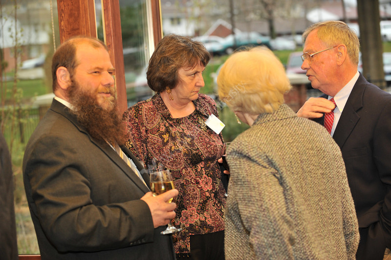 WVU MAE faculty gather for the annual Honors Banquet recognizing outstanding performance in the college, at the Erickson Alumni Center Evansdale campus, April 2011. (WVU Photo/Greg Ellis)