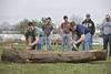 WVU Davis College students, staff and faculty take part in the WVU Woodsmen Championship at Saint Mary's field Evansdale campus, April  2011. (WVU Photo/Brian Persinger)