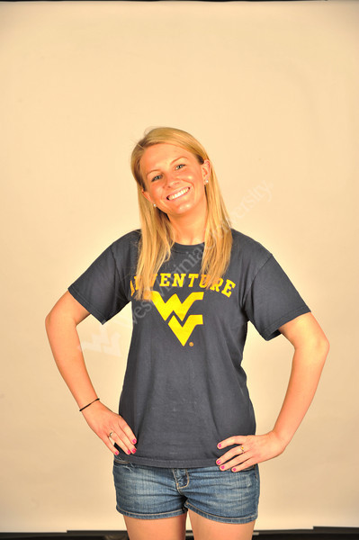 WVU student Erin Dailey poses for photos at the WVU OWF studio, April 2011. (WVU Photo/Greg Ellis)