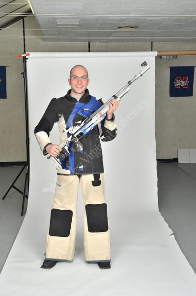WVU Rifle team All Americans pose for photos, April 2011. (WVU Photo/Greg Ellis)