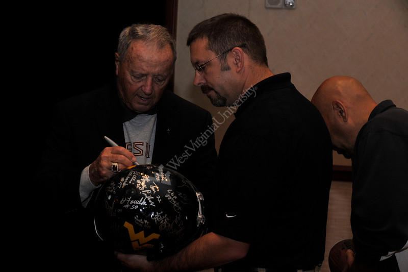WVU MAC Chalk Talk brings Football coaches Don Nehlen Jim Carlen and Bobby Bowden together to talk and reflect on the game , Waterfront Hotel Morgantown WV, April 2011. (WVU Photo/Brian Persinger)