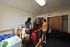 WVU freshmen student Sadie Kalathunka leaves her home in Upper Saint Clair PA traveling to WVU Morgantown, WV. to begin fall classes, August 2011. (WVU Photo/Greg Ellis)