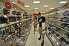 WVU freshmen students shop at university town center for  as part of the  WVU Freshmen Shopping  Extravaganza, August 2011.  (WVU Photo/Brian Persinger)