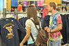 WVU freshmen enjoy a Mountaineer shopping experience at the Town Center Grandville WV, August 2011. (WVU Photo/Greg Ellis)