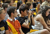 WVu freshmen take part in the WVU new student welcome at the WVU coliseum evansdale campus, August 2011. (WVU Photo/Jake Lambuth)