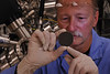 WVU Professor Charter D. Stinespring performs research in his lab at the WVU Statler College, August 2011. (WVU Photo/Greg Ellis)