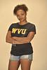 WVU student Fantazzia Bender poses for viewbook marketing photos OWF studio, August 2011. (WVU Photo/Jake Lambuth)