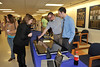 WVU students from the Colleges of Engineering and Journalism collaborate on the Kimbell Touch Screen project at the WVU College of Engineering evansdale campus, December 2011. (WVU Photo/Jake Lambuth)