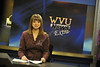 WVU Reed College students produce and deliver the news via the WVU Student News broadcast from the WVU OWF studio, December 2011. (WVU Photo/Brian Persinger)