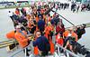 28060 WVU Orange Bowl players coaches staff Miami Florida, December 2011 thur January 2012. (WVU Photo/Dale Sparkes)