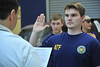 WVU Forensic students are sworn-in temporarily as ATF investigators at a Forensic Accounting  simulation WVU crime scene house evansdale campus , June 2011. (WVU Photo/Greg Ellis)