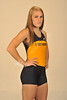 WVU All-American Katelyn Williams High Jump poses for photos at the OWF studio, June 2011. (WVU Photo/Jake Lambuth)