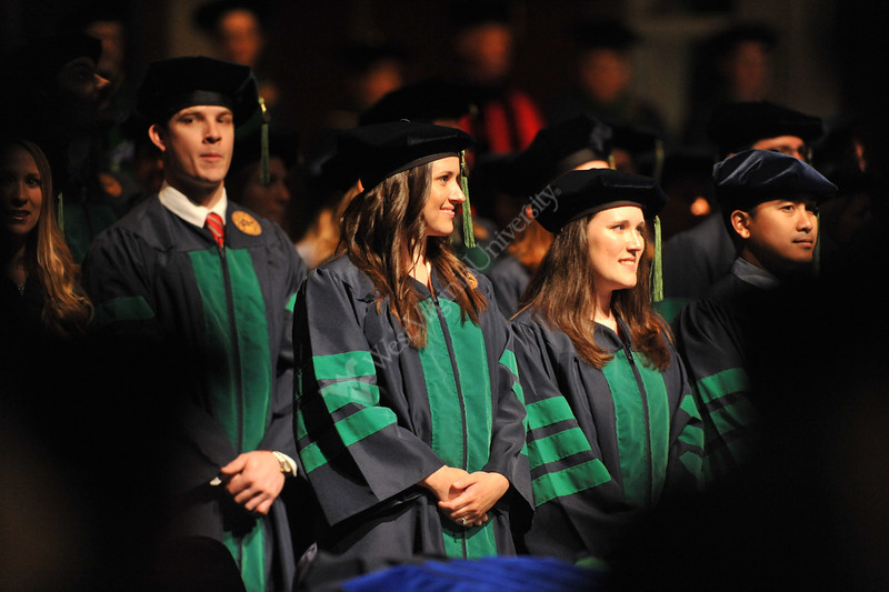 WVU School of Medicine graduates take part in their commencement at the WVU CAC evansdale campus, May 2011.  (WVU Photo/Allison Toffle)
