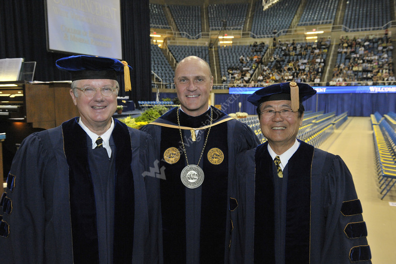 WVU College Of Engineering Mineral Resources graduates take part in their commencement at the WVU Coliseum  Evansdale campus May 2011 (WVU Photo Brian Persinger)
