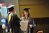 WVU Reed College of Journalism graduates take part in their commencement at the Waterfront Hotel , May 2011. (WVU Photo/Allison Toffle)