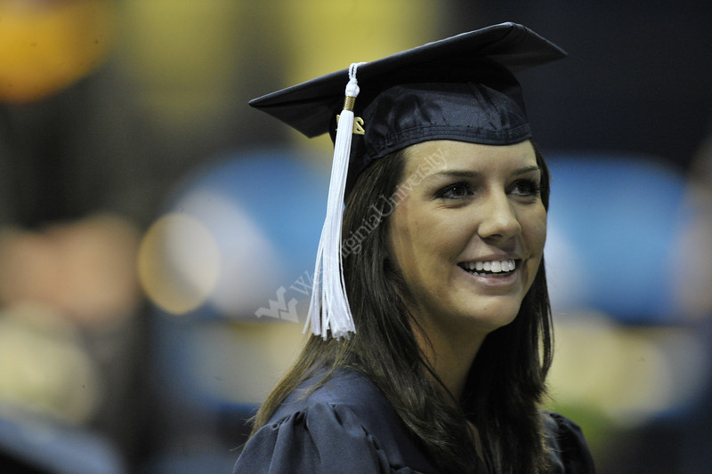27629 WVU Eberly College graduate take part in their commencement at the WVU Coliseum Evansdale campus, May 2011. (WVU Photo/Brian Persinger)
