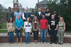 WVU McNair scholars pose for photos on the WVU downtown campus with Woodburn Circle in the background, May 2011. (WVU Photo/Jake Lambuth)