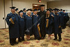 WVU College of Business and Economics  EMBA graduates take part in the EMBA Academic hooding, May 2011. (WVU photo/Jake Lambuth)