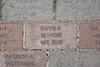 WVU scholarship bricks on the walkway at the Erickson Alumni center evansdale campus, May 2011. (WVU Photo/Greg Ellis)