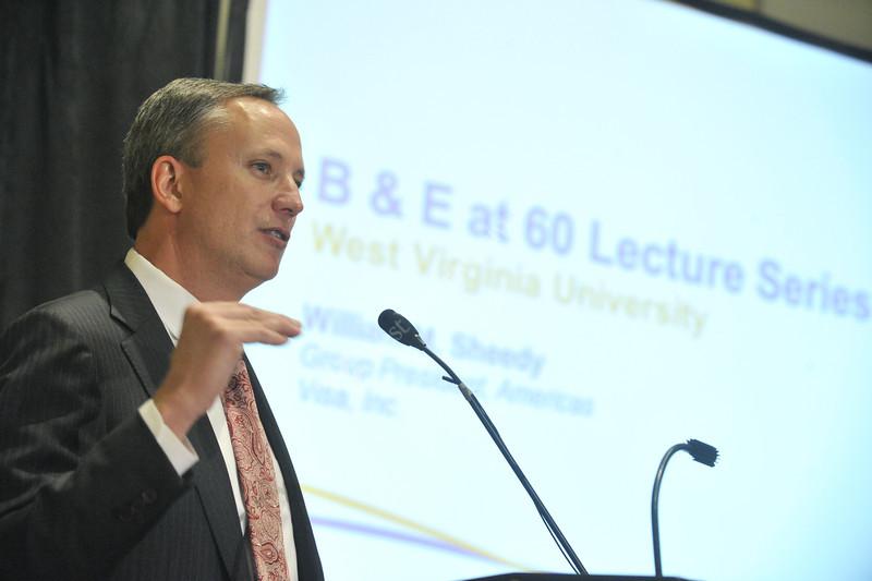 WVU College of Business and Economics speaker series presents William Sheedy President of VISA at the Erickson Alumni Center evansdale campus, November 2011. (WVU Photo/Brian Persinger)