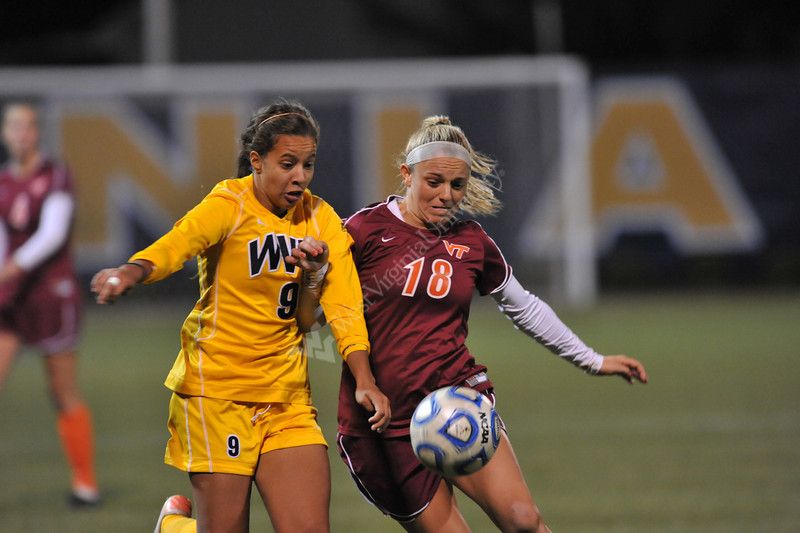 The WVU Women's Soccer team plays in NCAA first round action at Dick Dlesk Soccer Stadium evansdale campus, November 2011. (WVU Photo/Allison Toffle)