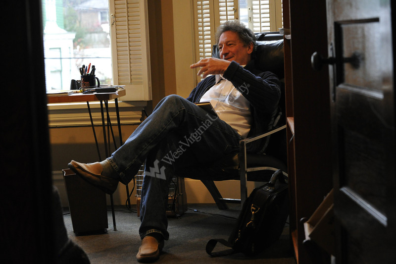WVU College of Law professor Michael Blumenthal poses for photos in his South Park home Morgantown WV., November 2011. (WVU Photo/Greg Ellis)
