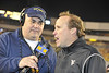 28023 WVU Football vs Pitt in the backyard brawl game action, November 2011. (WVU Photo/Brian Persinger)