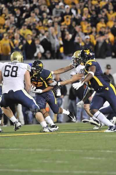 28024 WVU Football vs Pitt in the backyard brawl game action, November 2011.(WVU Photo/Greg Ellis)