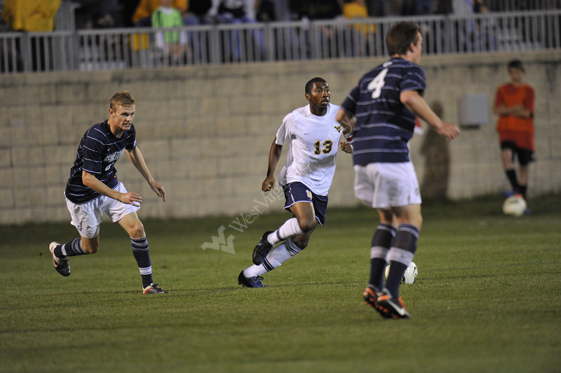 WVU Men's Soccer vs Georgetown game action Dick Dlesk Soccer Stadium evansdale campus, October 2011. (WVU Photo/Allison Toffle)