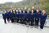 The WVU Women's Rowing team poses for photos at their training facility on the Monongahela River for the Women's Rowing Media Guide, October 2011. (WVU Photo)