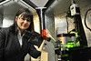 WVU professor Cerasela-Zoica Dinu PhD Department of Chemical and Biomedical Engineering poses for photos in her lab at the Engineering science building evansdale campus, October 2011.(WVU Photo/Greg Ellis)