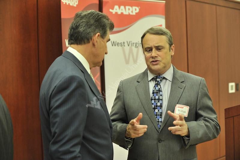 WVU Senator Joe Manchin meets with WVU leadership faculty alumni and staff att eh WVU ARRP awards erickson Alumni Center evansdale campus, October 2011. (WVU Photo/Greg Ellis)