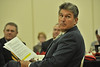 WVU Senator Joe Manchin meets with WVU leadership faculty alumni and staff att eh WVU ARRP awards erickson Alumni Center evansdale campus, October 2011. (WVU Photo/Greg Ellis)