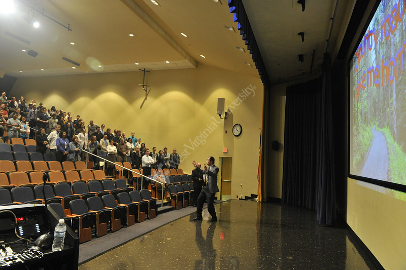 WVU faculty and Dental students attend the  WVU Dental Research Convocation at the WVU HSC Okey Patterson auditorium HSC campus, October 2011. (WVU Photo Brian Persinger)