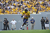 wvu, football, norfolk state, game action, mark brown, photo, mountaineer field