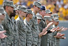 wvu, norfolk state, football, 911, gameday activities, memorial, anniversary, 911 anniversary, military, police, fire, mark brown, photo